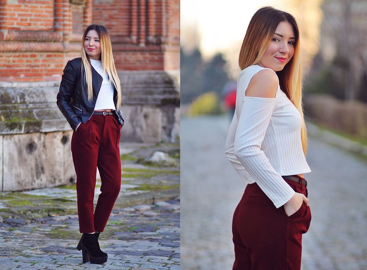 lookbook - marsala pants
