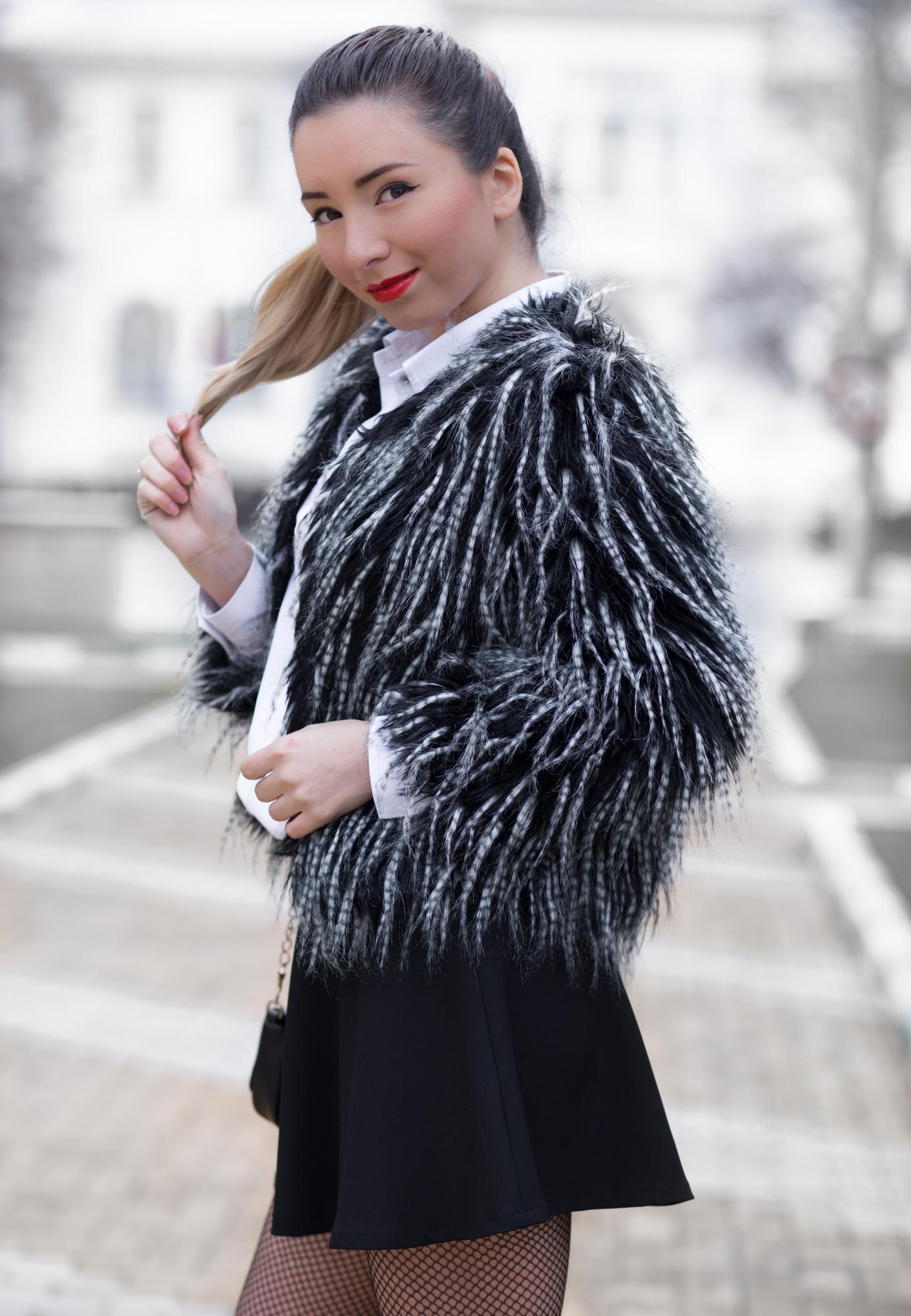 Andreea Ristea - cum purtam blana artificiala?