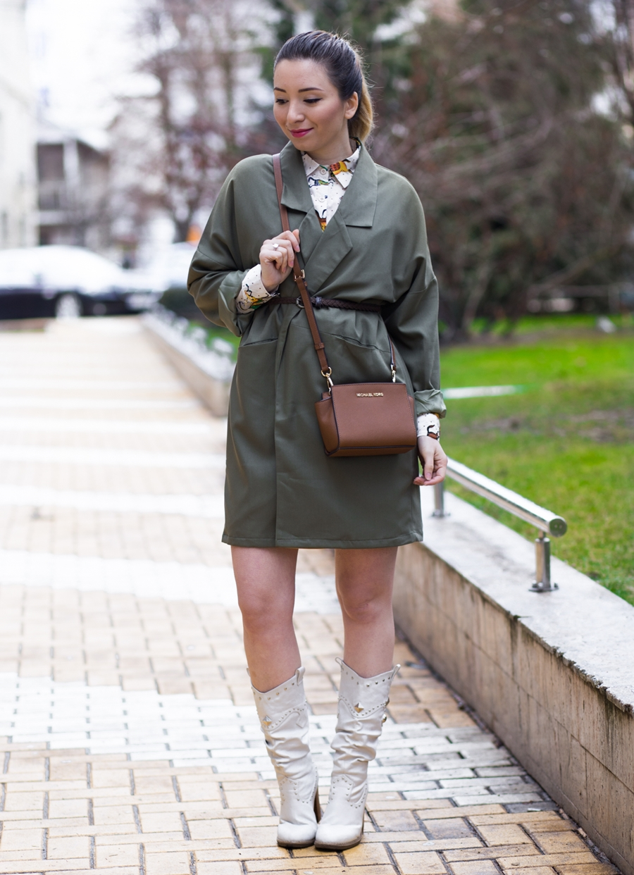 Cum purtam trench-ul verde militar, kaki - tinuta