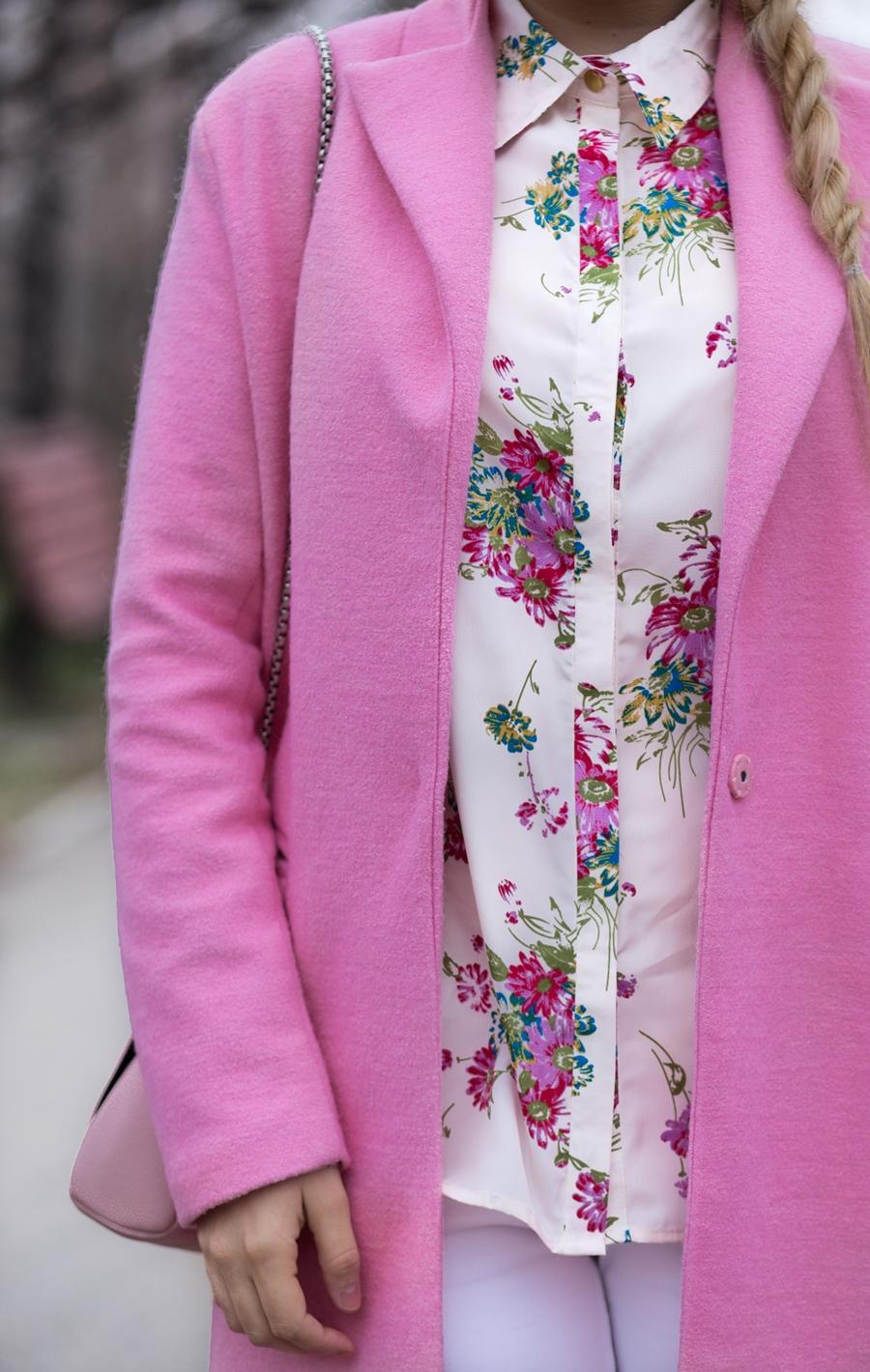 Palton roz - SheIn