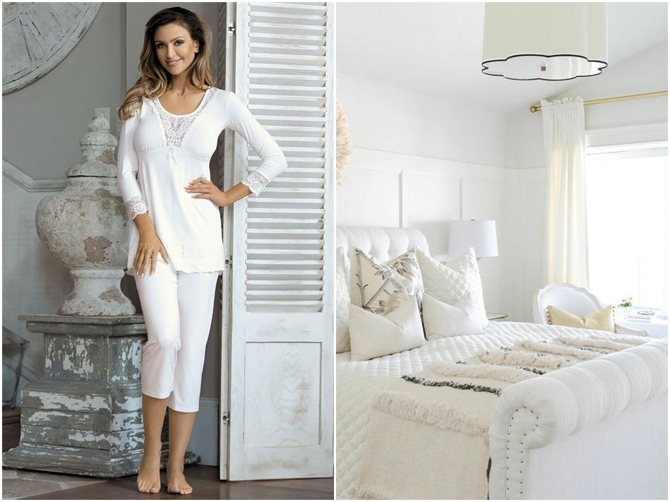 pijamale albe astratex
