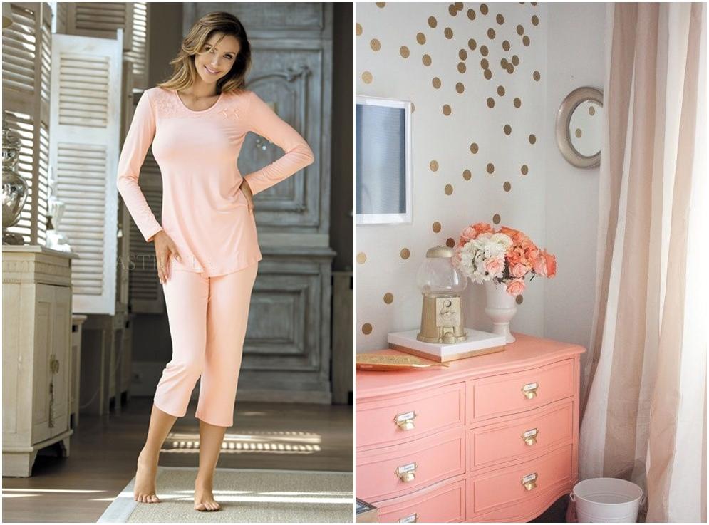 pijamale culoarea piersicii astratex