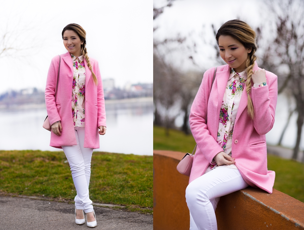 lookbook - pink coat