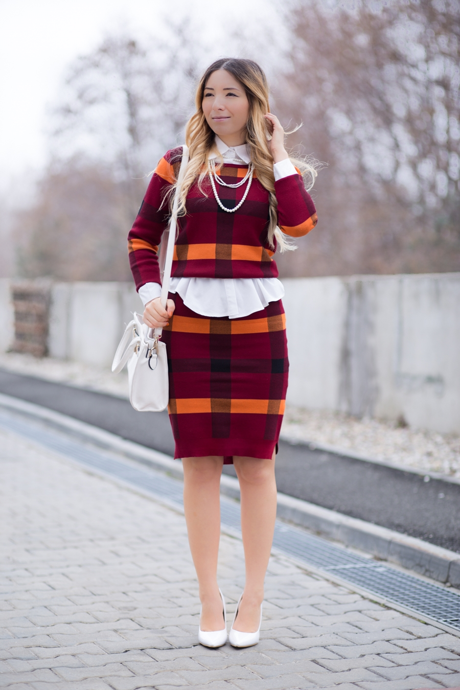 Costum carouri culori toamna - stil chic