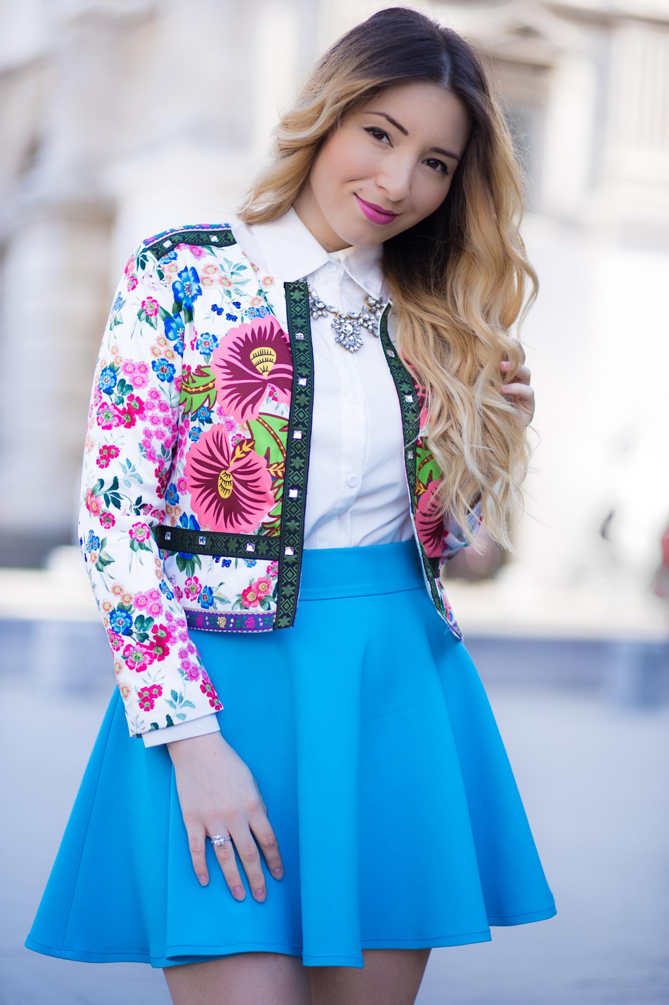 Andreea Ristea - cum purtam jacheta cu imprimeu floral?