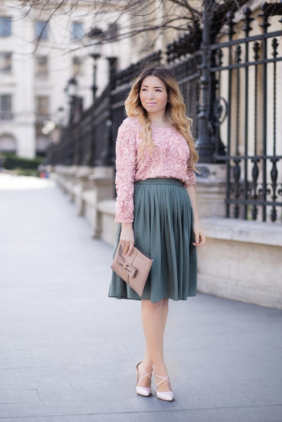 Tinuta de primavara, tendinte in moda, pasteluri si vintage - Bucuresti, blogger de moda Andreea Ristea