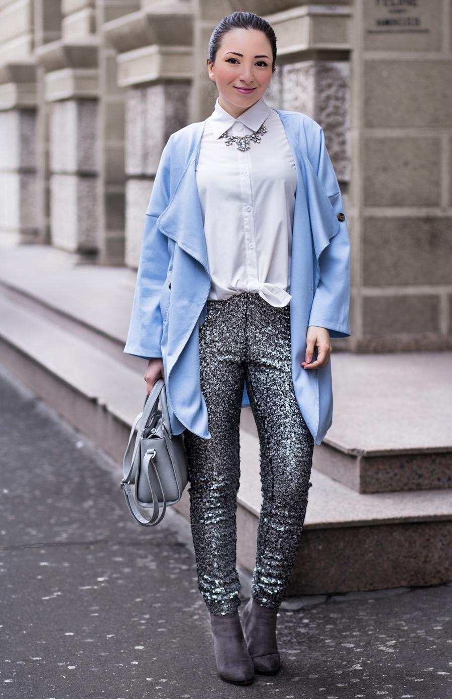 Cum purtam culoarea anului 2016 - blue serenity? Tinuta de primavara - fashion blogger Andreea Ristea