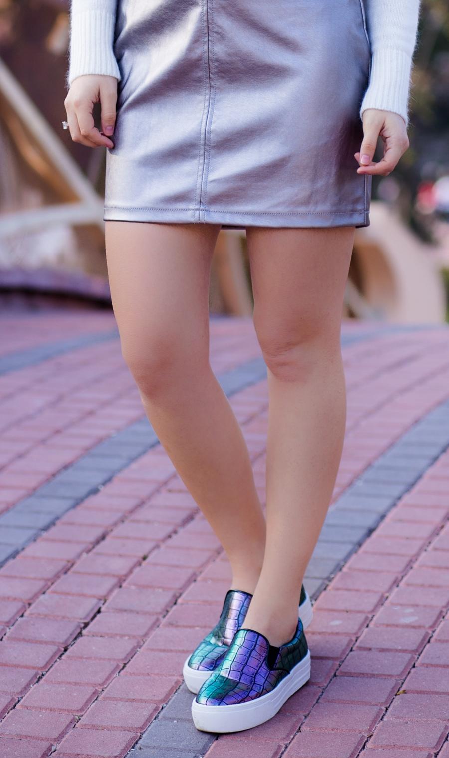 pantofi cu reflexii cameleon