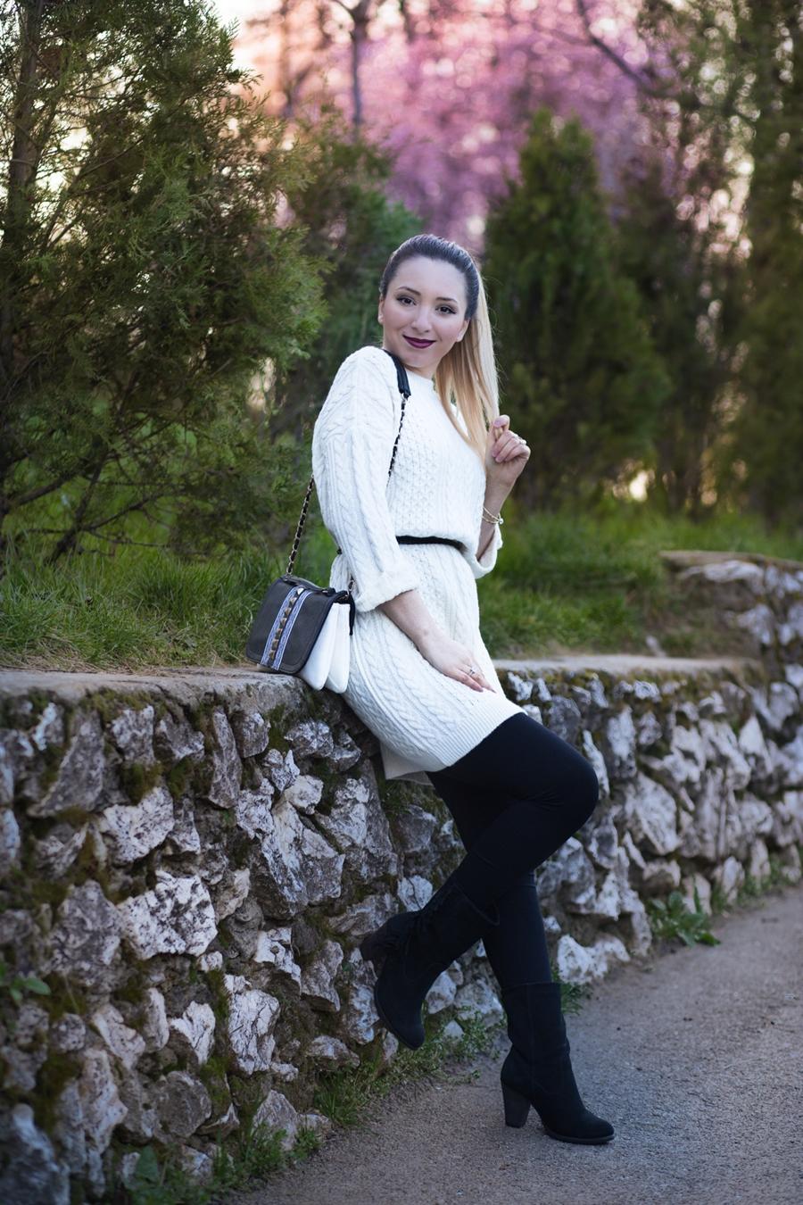 Blogger de moda Pitesti - tinuta de primavara alb negru