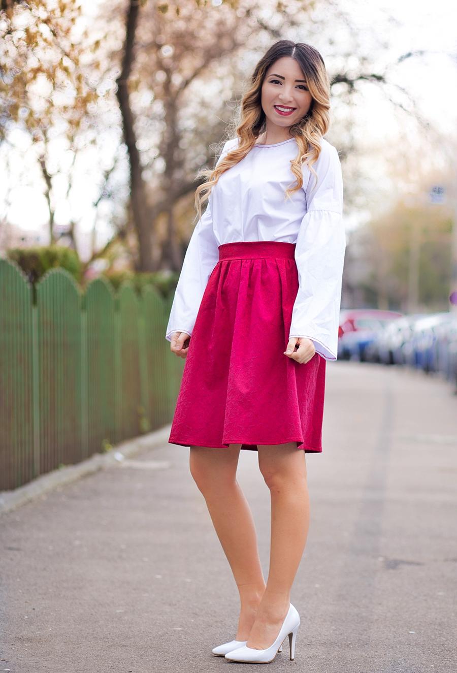 Bluza inspirata din folclorul traditional romanesc