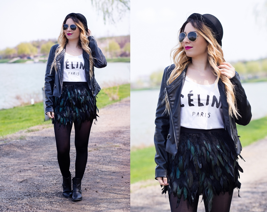 lookbook - feather skirt