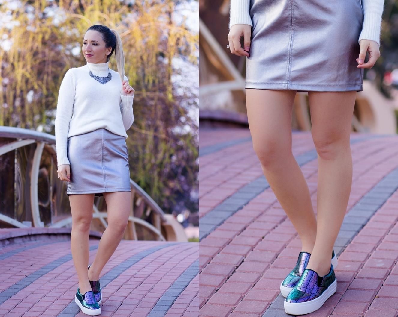 lookbook - metallic skirt