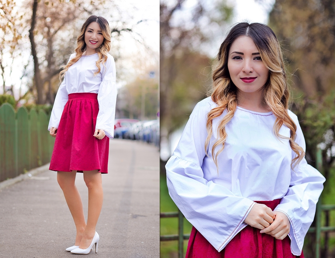 lookbook - white and red outfit