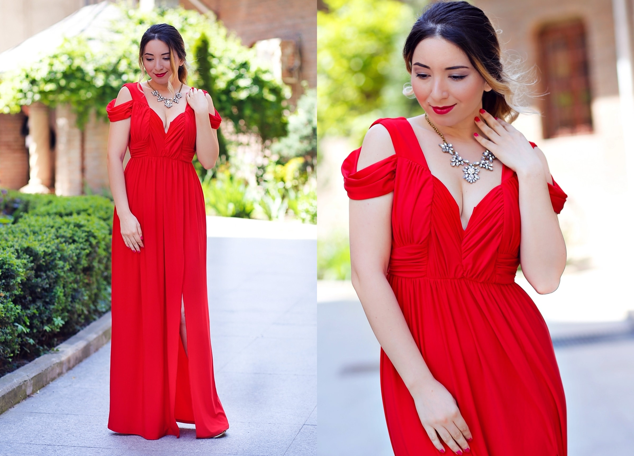 look red dress asos