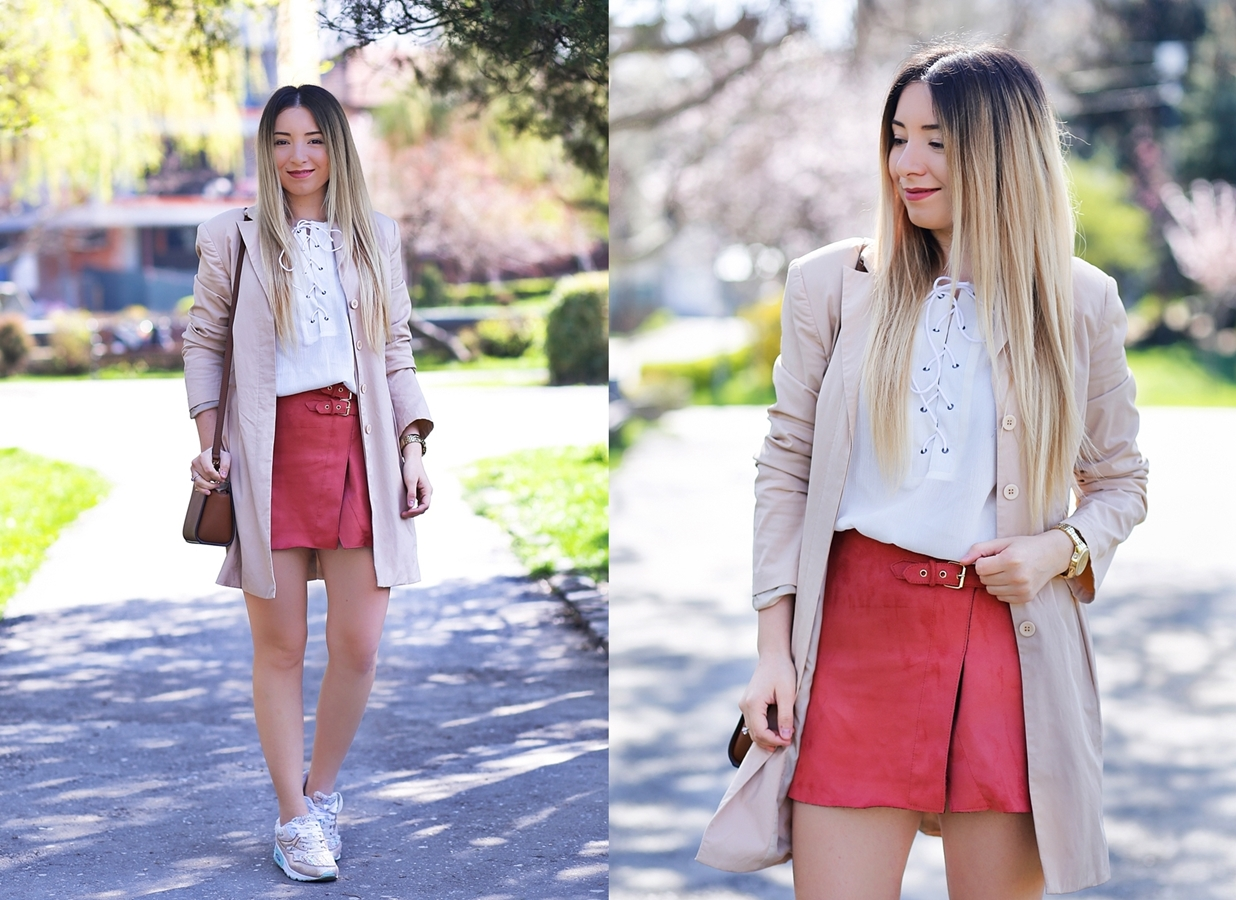 lookbook - suede skirt