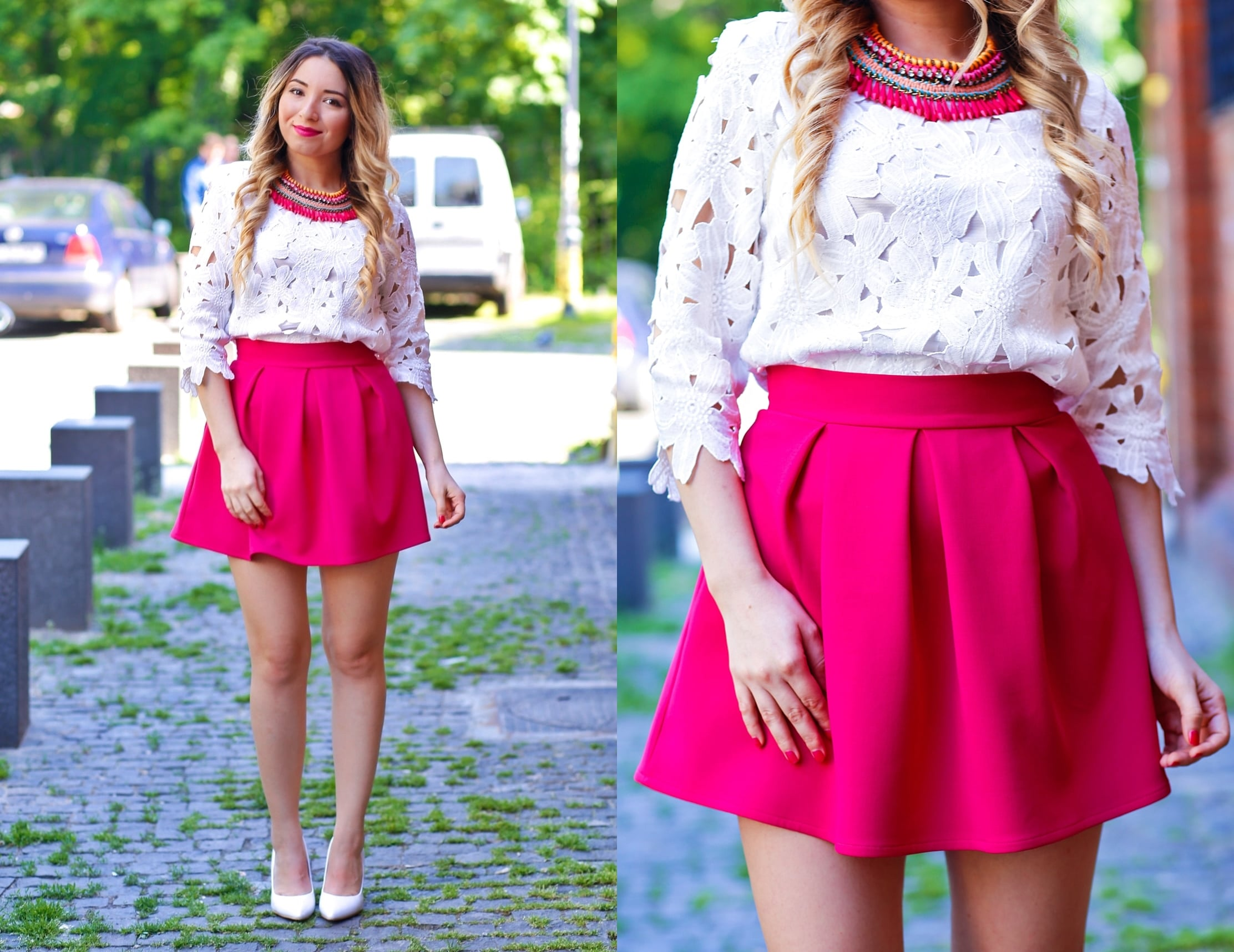 lookbook- white and pink outfit