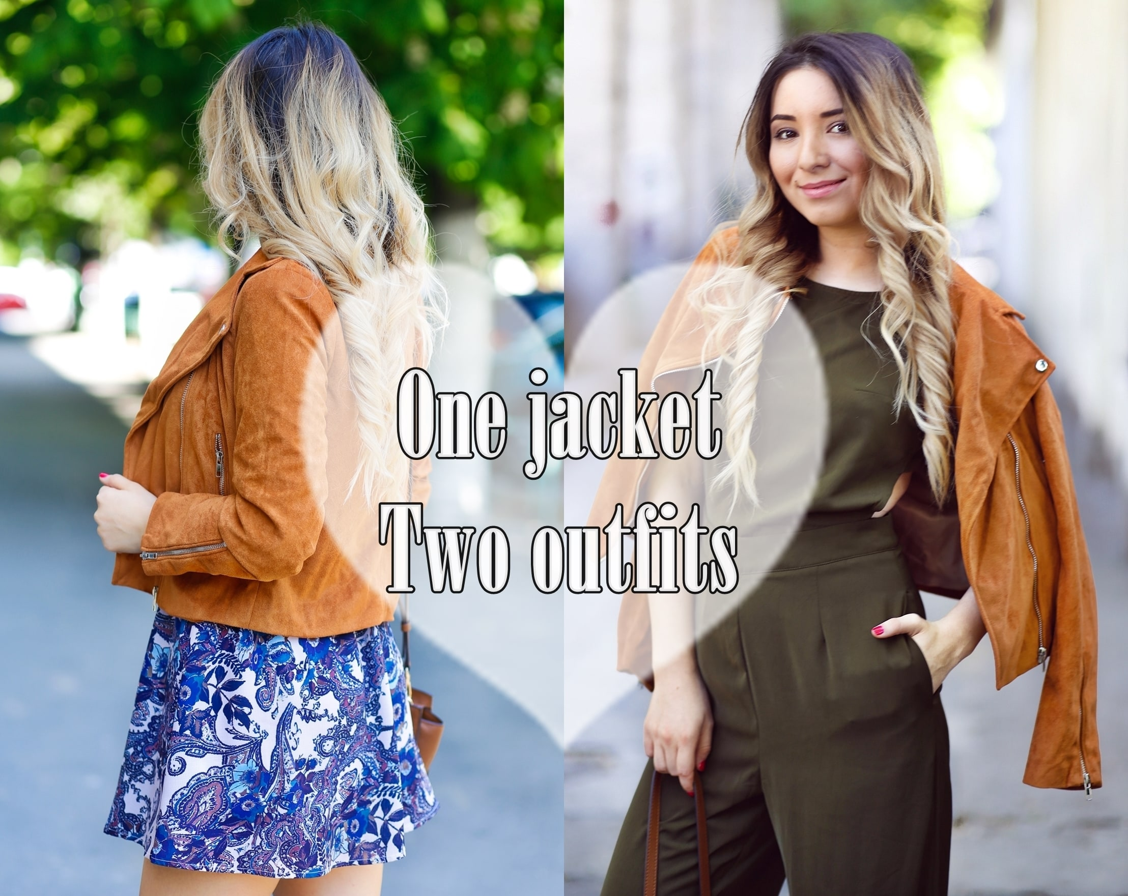 one jacket two outfits - suede jacket