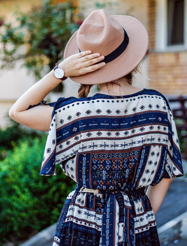 Tinuta de vara cu palarie - andreea ristea, blogger moda