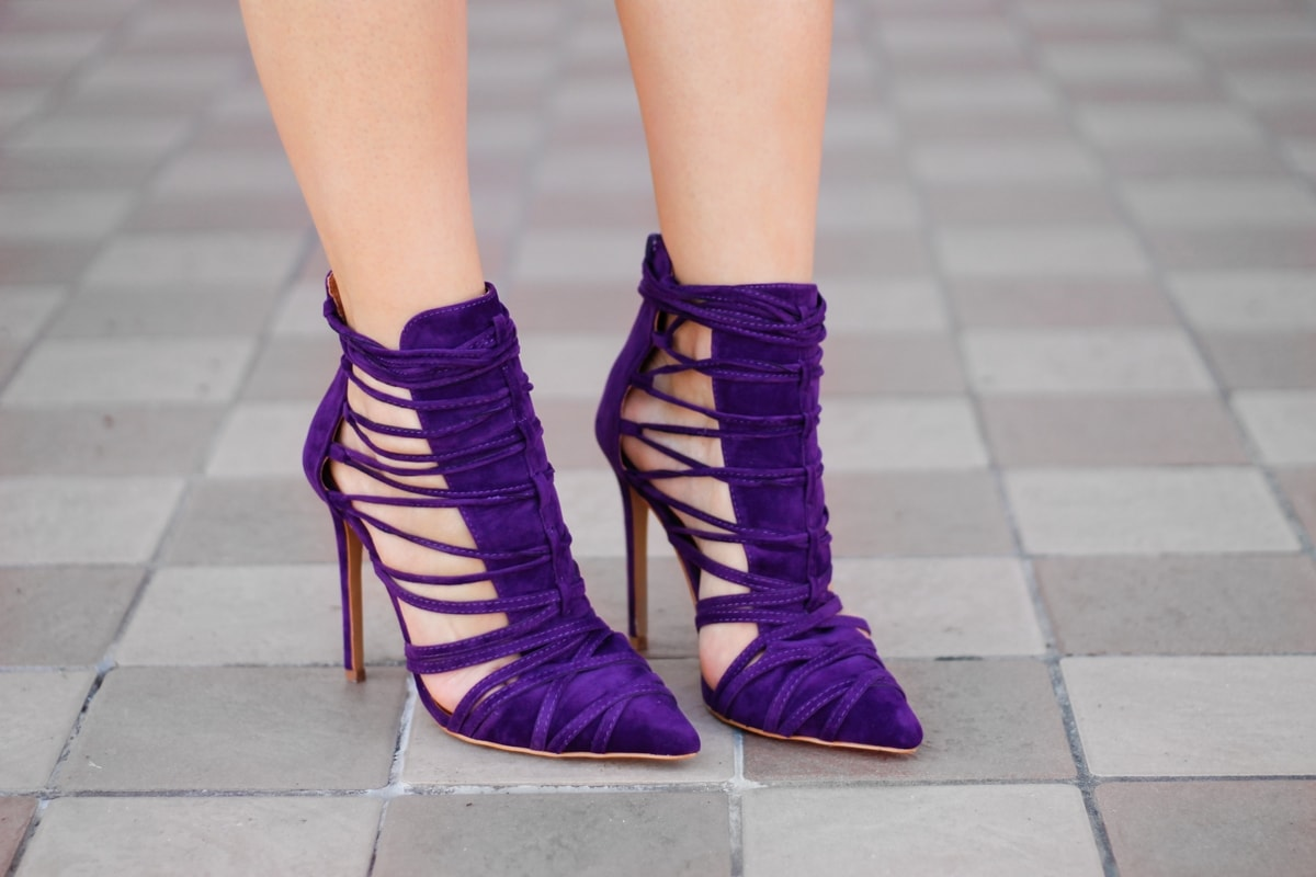 ami club wear - purple shoes - andreea ristea blogger fashion