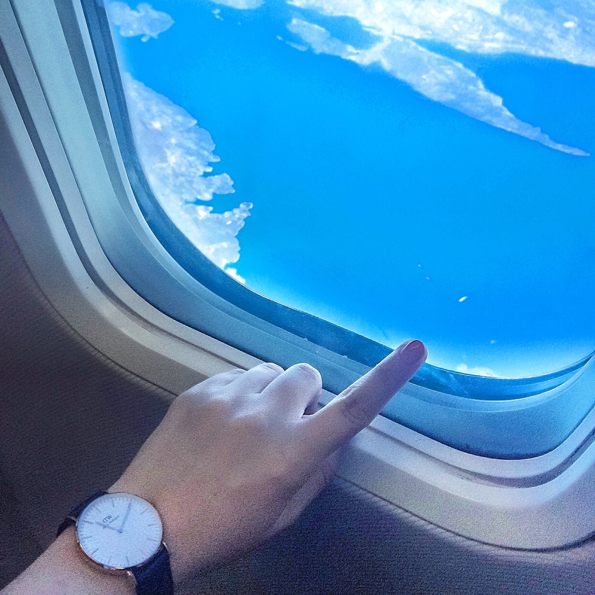 poza din avion, marea adriatica, ryanair