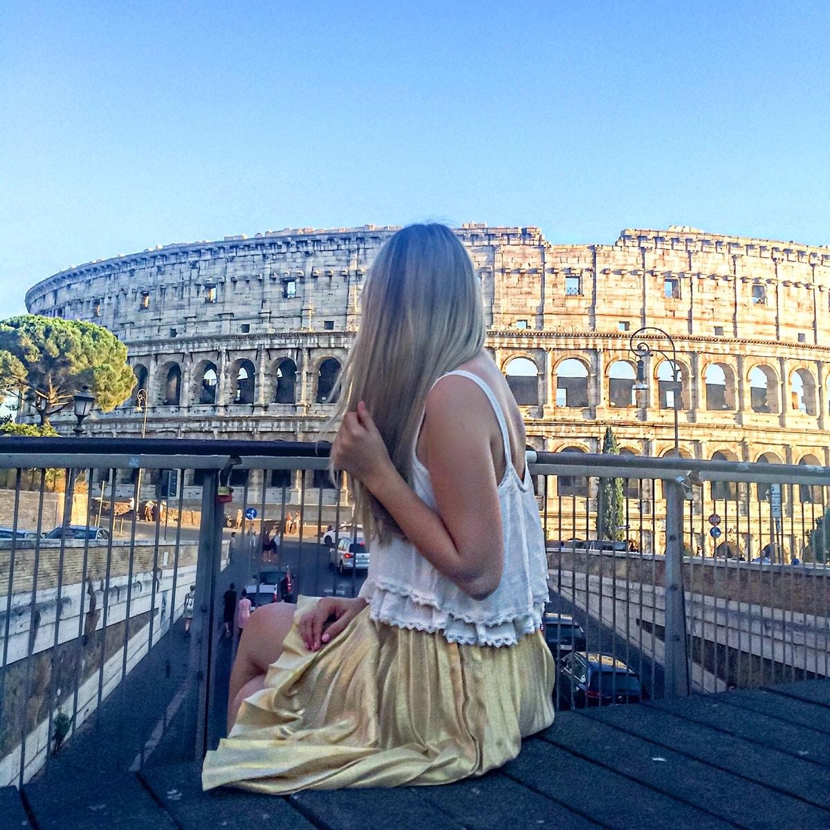andreea ristea, vacanta in roma, italia, coloseum