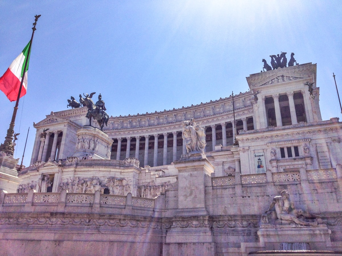 victor emmanuel II monumet, rome, altare della patria