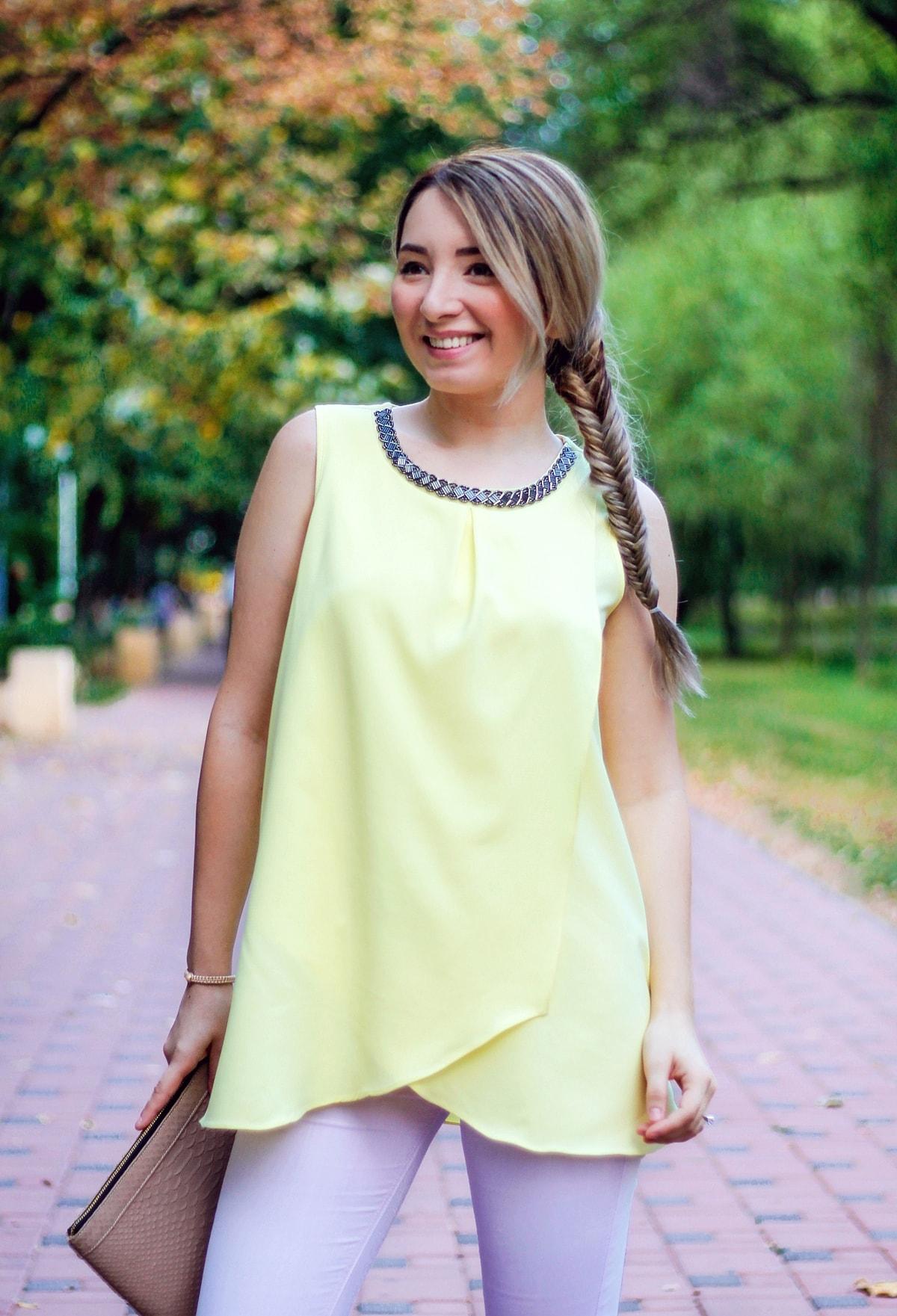 Top Woman Fashion galben pal - Andreea Ristea