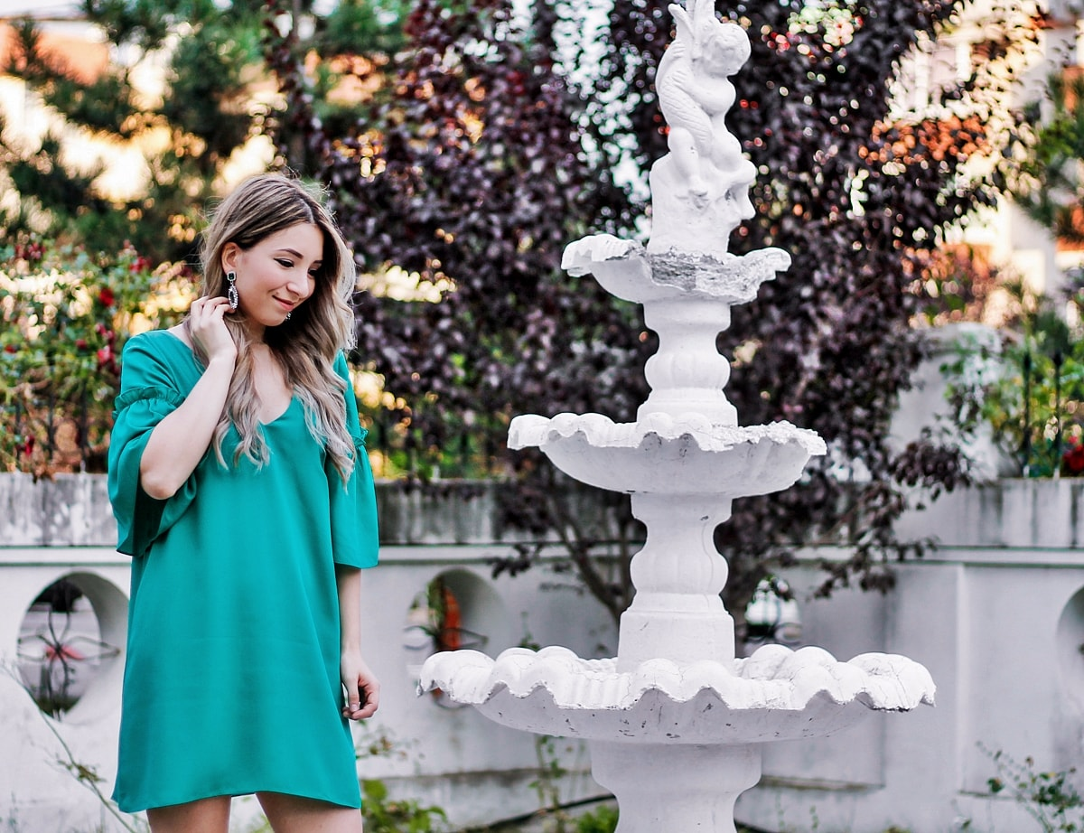 rochie verde poema, colectie vara 2016