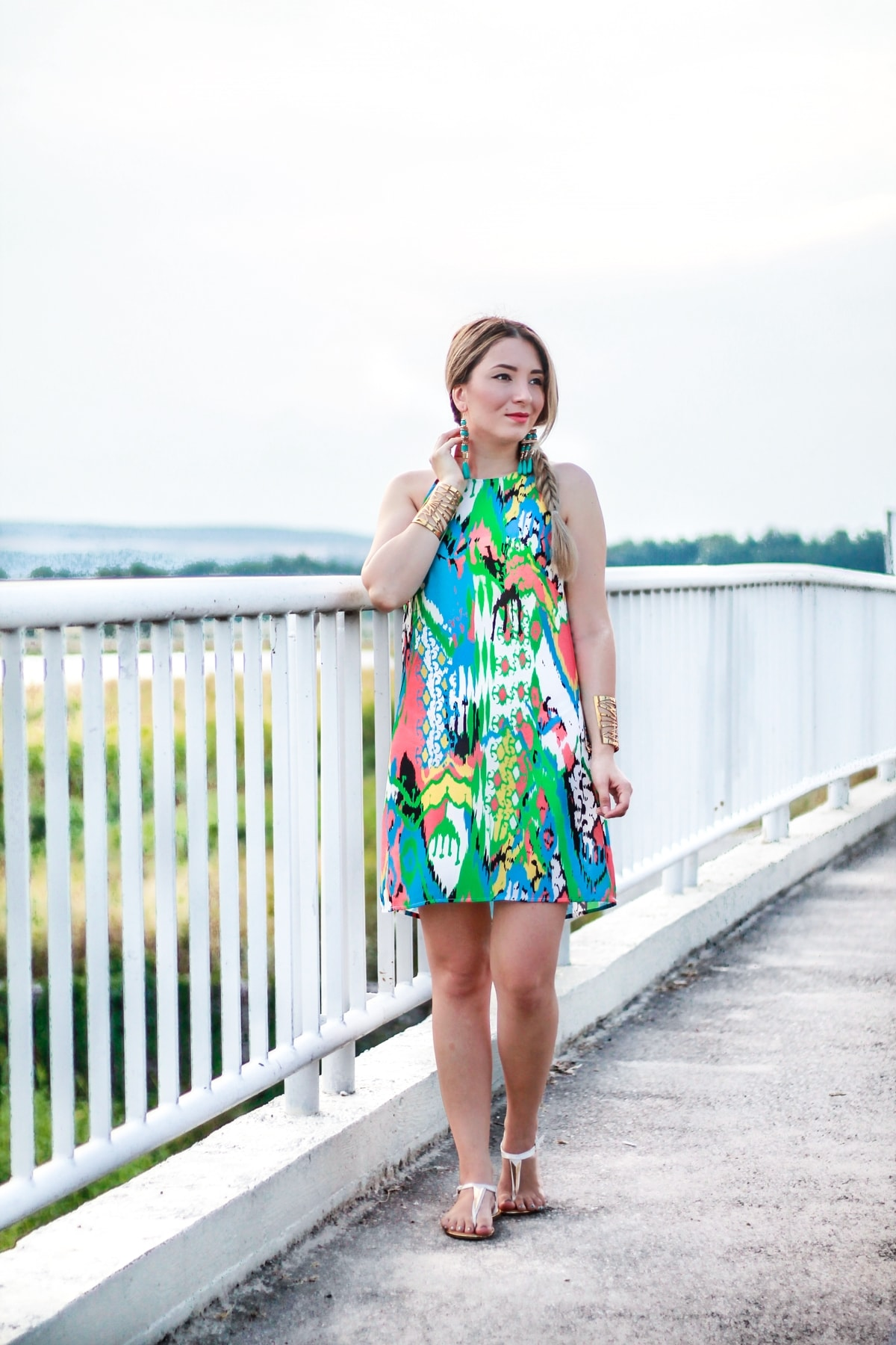 Street style: shein multicolor dress, summer look