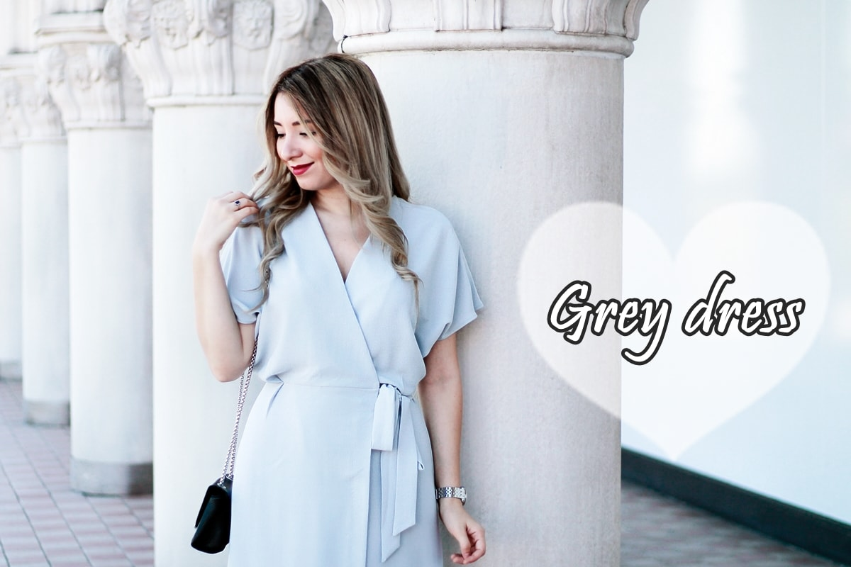 grey dress - woman fashion