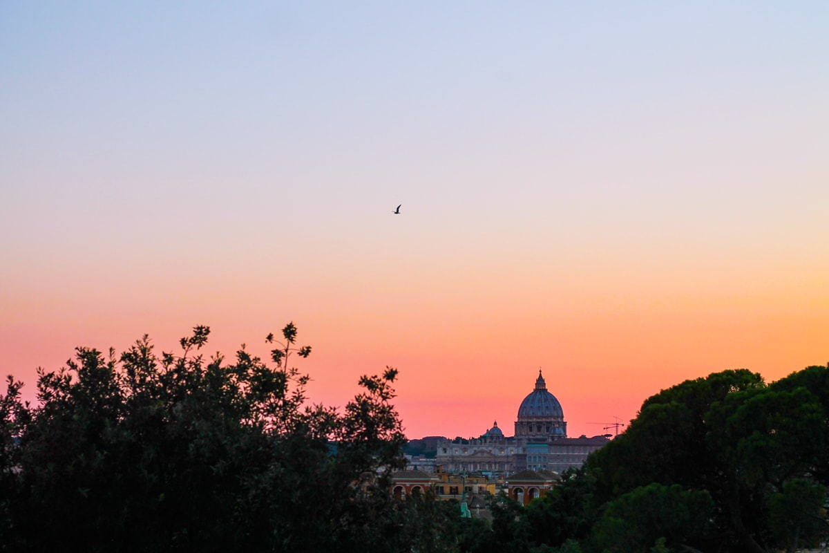 Vatican seen from terazza del pincio, rome, travel, blogger, sunset