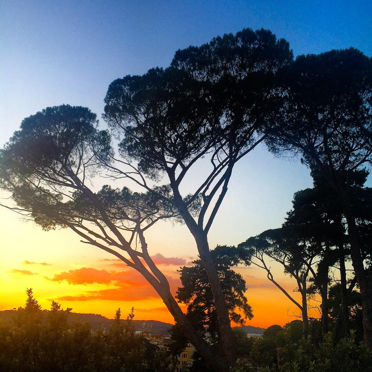 apus de soare, italia, roma, terazza del pincio, blogger, calatorii, impresii