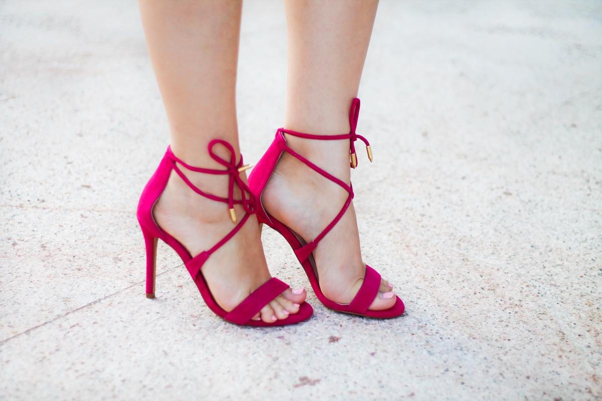 sandale cu ciucuri, roz fuchsia, pink basis