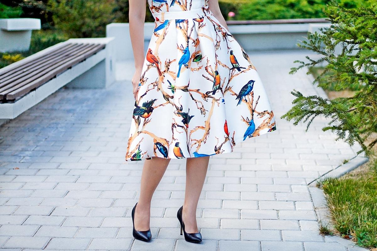 rochie print birds