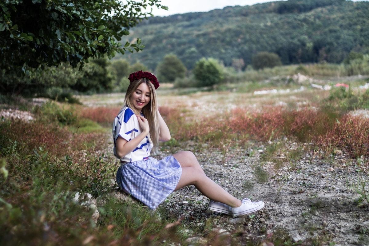 andreea ristea - coronita trandafiri rosii - shooting late summer