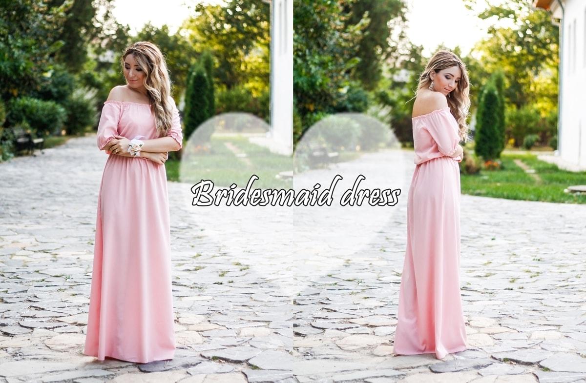 bridesmaid blog post, pale pink dress
