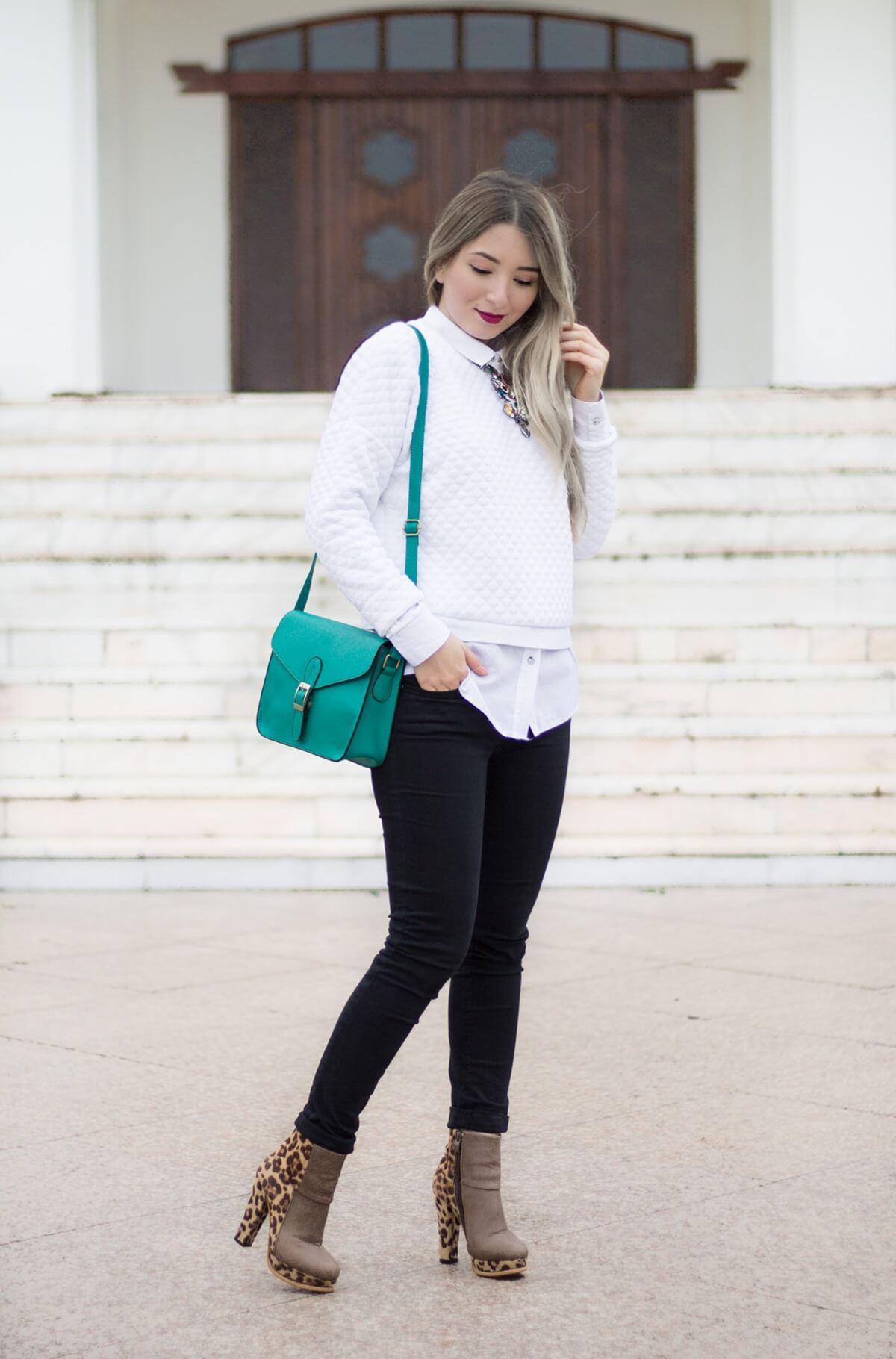 Tinuta de toamna, cum purtam o geanta verde, idei de tinute, andreea ristea