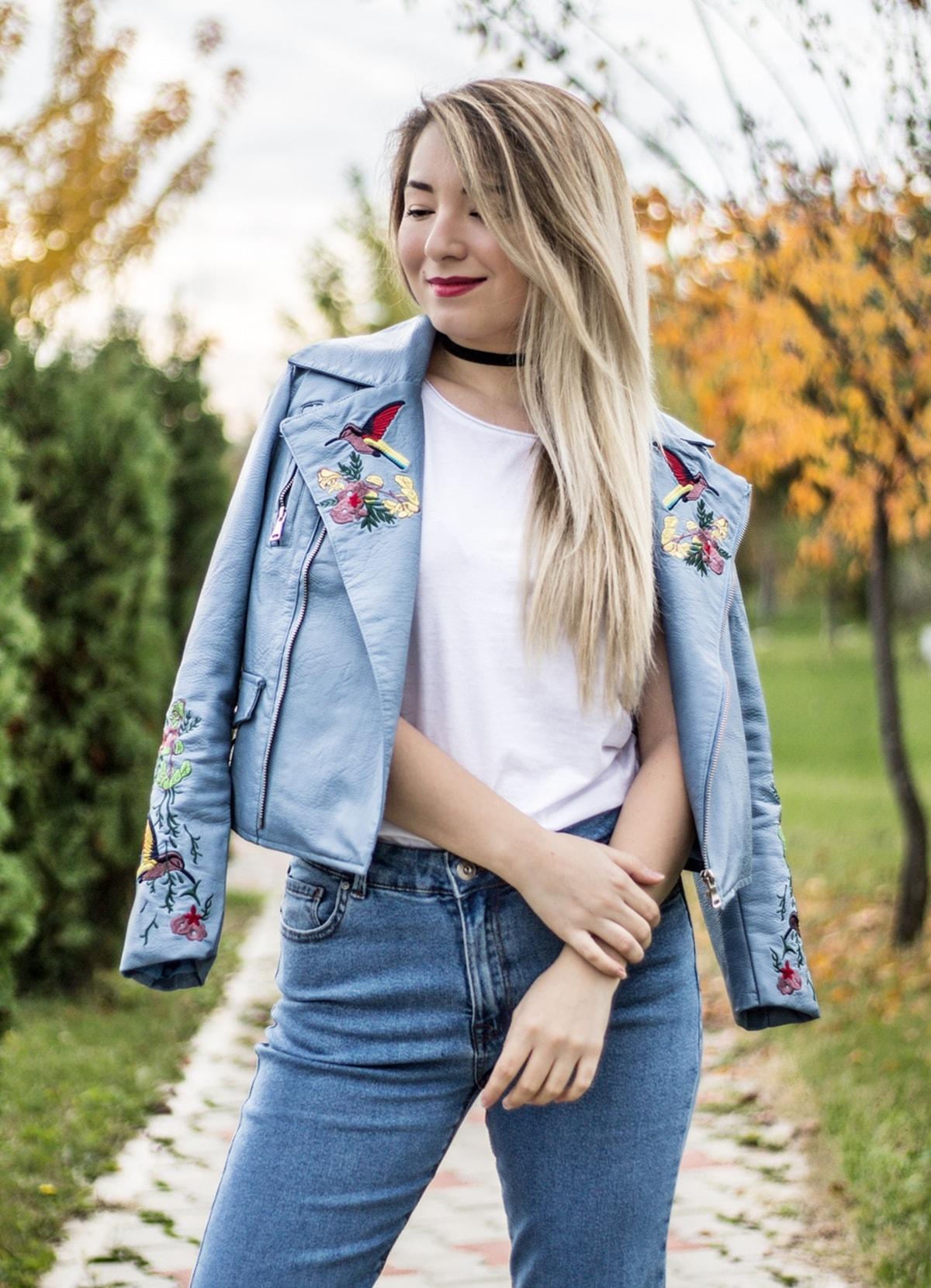 Andreea Ristea - piese de baza sezonul toaman iarna 2016, jacheta cu insertii din broderie
