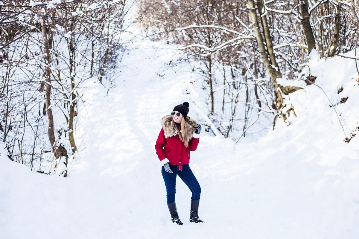 Andreea Ristea, poze iarna