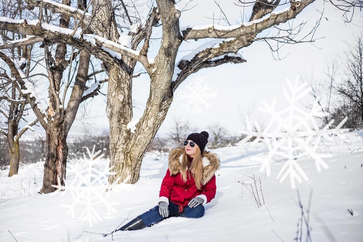 Andreea Ristea, poveste de iarna, shooting